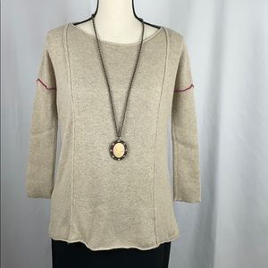 Armani Exchange Tan Crew Neck Sweater, Size S